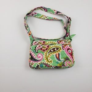 Vera Bradlet womens colorful paisley print green